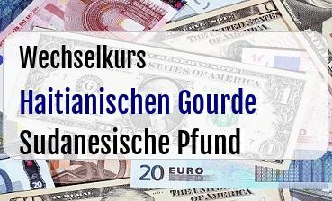 Haitianischen Gourde in Sudanesische Pfund