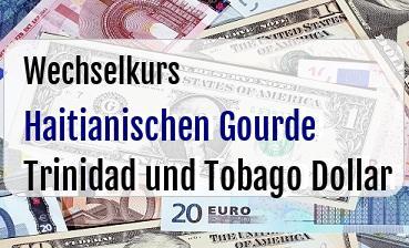 Haitianischen Gourde in Trinidad und Tobago Dollar