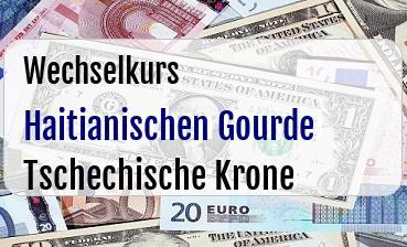 Haitianischen Gourde in Tschechische Krone