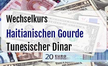 Haitianischen Gourde in Tunesischer Dinar