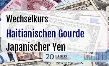 Haitianischen Gourde in Japanischer Yen