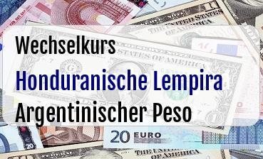Honduranische Lempira in Argentinischer Peso