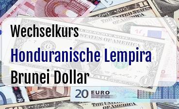 Honduranische Lempira in Brunei Dollar