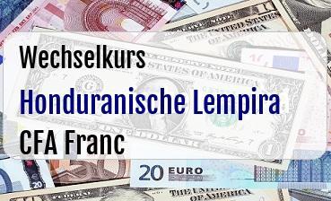 Honduranische Lempira in CFA Franc