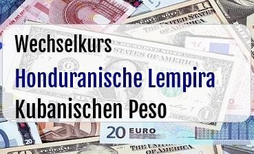 Honduranische Lempira in Kubanischen Peso