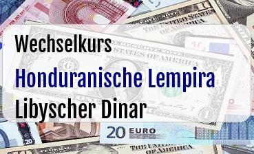 Honduranische Lempira in Libyscher Dinar
