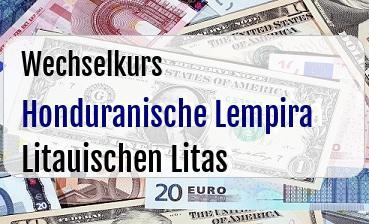 Honduranische Lempira in Litauischen Litas