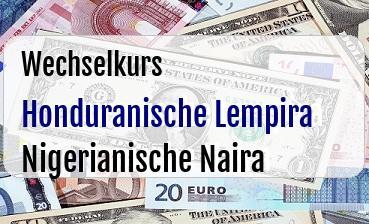 Honduranische Lempira in Nigerianische Naira