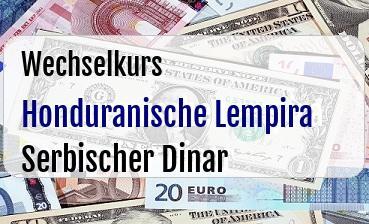 Honduranische Lempira in Serbischer Dinar