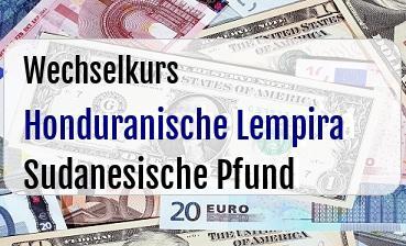 Honduranische Lempira in Sudanesische Pfund