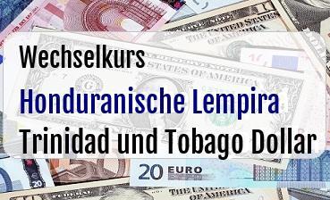 Honduranische Lempira in Trinidad und Tobago Dollar