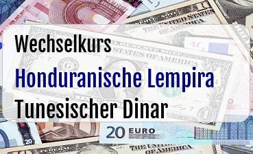 Honduranische Lempira in Tunesischer Dinar