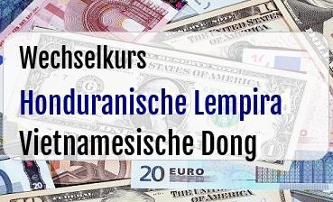 Honduranische Lempira in Vietnamesische Dong