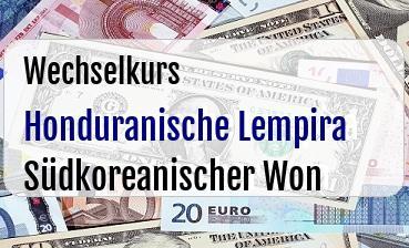 Honduranische Lempira in Südkoreanischer Won