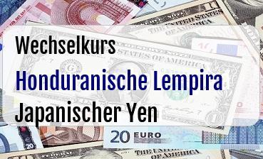Honduranische Lempira in Japanischer Yen