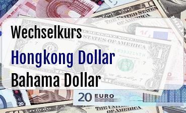 Hongkong Dollar in Bahama Dollar