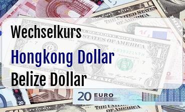 Hongkong Dollar in Belize Dollar