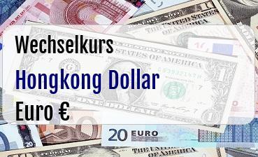 Hongkong Dollar in Euro