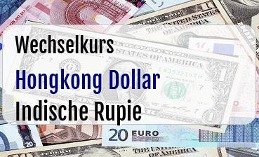 Hongkong Dollar in Indische Rupie