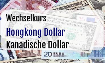Hongkong Dollar in Kanadische Dollar