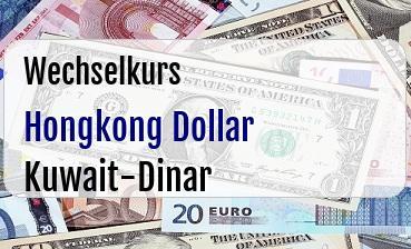 Hongkong Dollar in Kuwait-Dinar