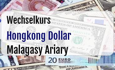 Hongkong Dollar in Malagasy Ariary