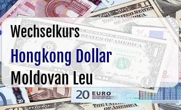 Hongkong Dollar in Moldovan Leu