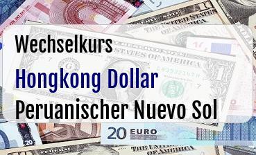 Hongkong Dollar in Peruanischer Nuevo Sol