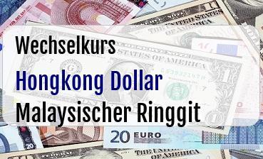 Hongkong Dollar in Malaysischer Ringgit