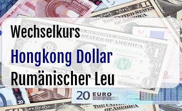 Hongkong Dollar in Rumänischer Leu