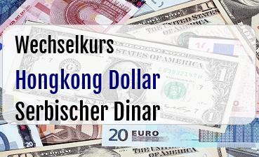 Hongkong Dollar in Serbischer Dinar
