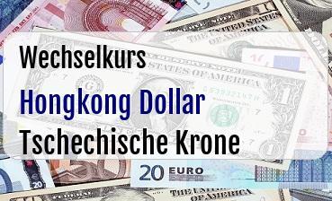 Hongkong Dollar in Tschechische Krone