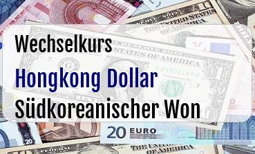 Hongkong Dollar in Südkoreanischer Won