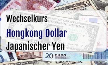Hongkong Dollar in Japanischer Yen