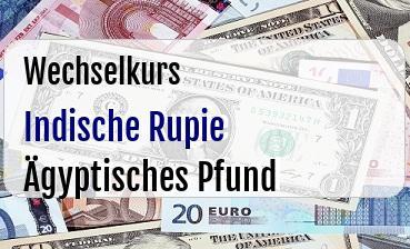 Indische Rupie in Ägyptisches Pfund