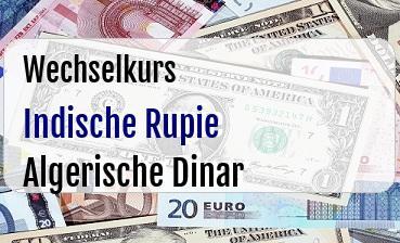 Indische Rupie in Algerische Dinar