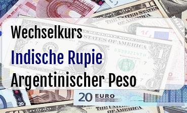 Indische Rupie in Argentinischer Peso
