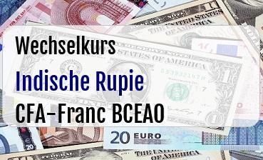 Indische Rupie in CFA-Franc BCEAO