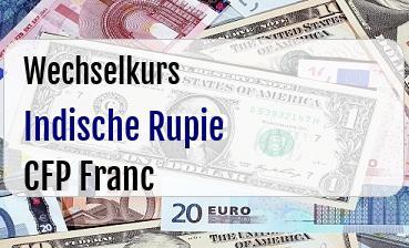 Indische Rupie in CFP Franc