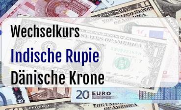 Indische Rupie in Dänische Krone