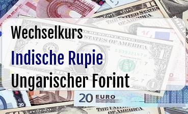 Indische Rupie in Ungarischer Forint