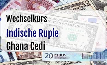 Indische Rupie in Ghana Cedi