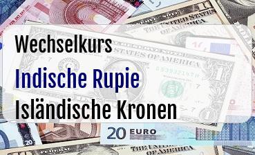 Indische Rupie in Isländische Kronen