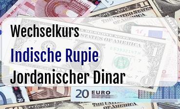 Indische Rupie in Jordanischer Dinar