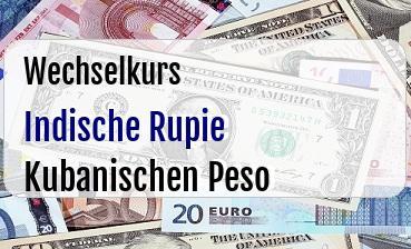 Indische Rupie in Kubanischen Peso