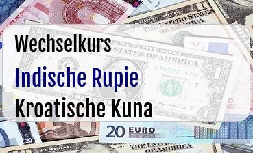 Indische Rupie in Kroatische Kuna