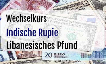 Indische Rupie in Libanesisches Pfund