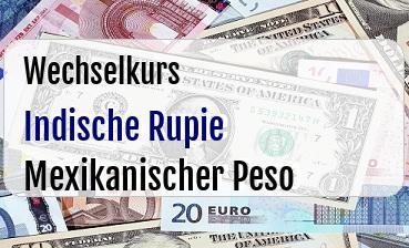 Indische Rupie in Mexikanischer Peso