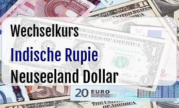 Indische Rupie in Neuseeland Dollar