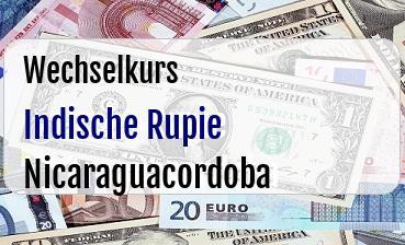 Indische Rupie in Nicaraguacordoba
